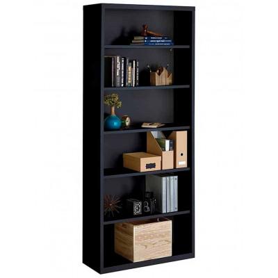 Librero Metalico 6 Repisas Negro