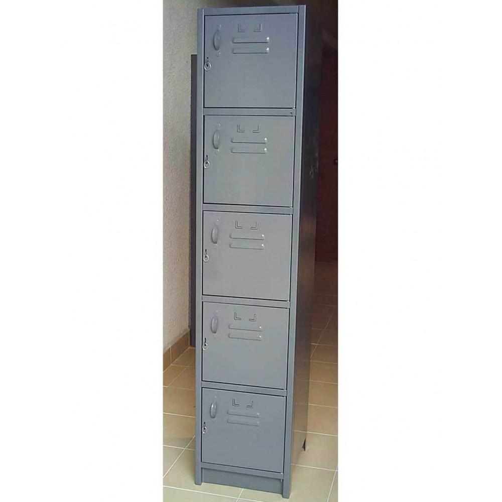 Locker Metalico 5 Puertas 30X30X180