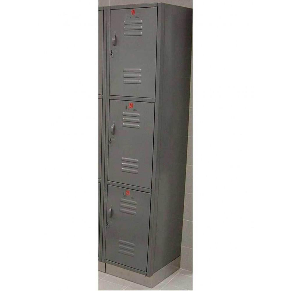 Locker Metalico 3 Puertas 30X30X180