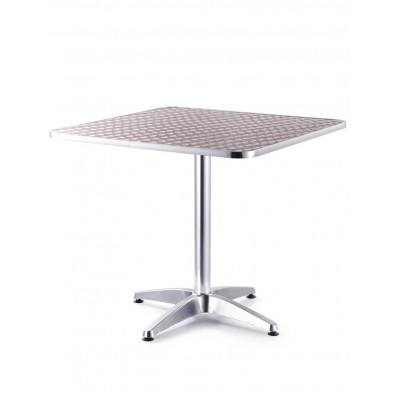Mesa de Aluminio Cuadrada Baja 80X80